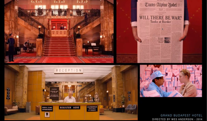 Compilation of photos from The Grand Budapest Hotel