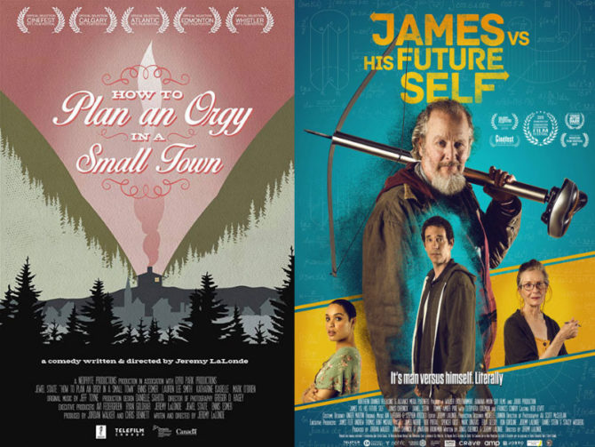 Posters of How to Plan An Orgy in a Small Town and James vs. His Future Self