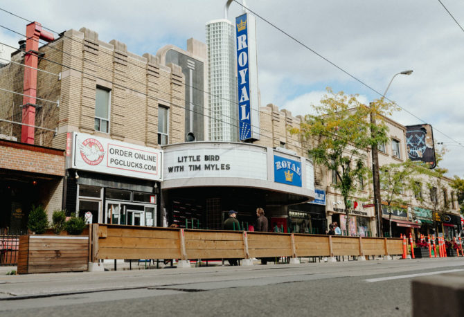 Little Bird marquee at the Royal Cinema in Toronto